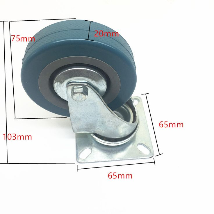 Diameter 75mm Rubber Caster With Brake Chair Travel Luggage Universal and Roll Wheel Household Appliance Moving Trailer