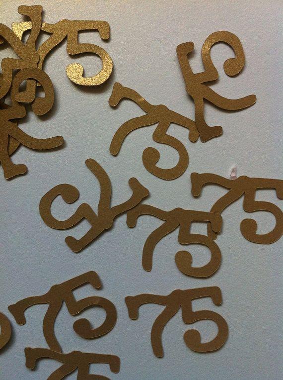75th Birthday Decorations Table Confetti on Etsy, $6.50