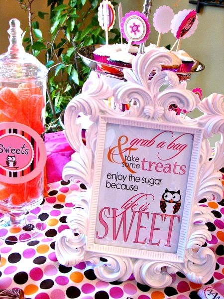Love the sentiment for baby shower favors plus nice sentiment for a baby girl