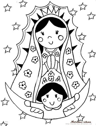 La Virgen De Guadalupe Coloring Pages