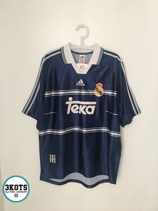 6bcaf4114 REAL MADRID 1998 99 Away Football Shirt (L) Soccer Jersey Vintage ADIDAS  Maglia (eBay Link)
