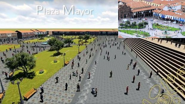 Walking tour of Cusco's Main Plaza, without any cars. That's the vision of municipal authorities and UNESCO for 2025.