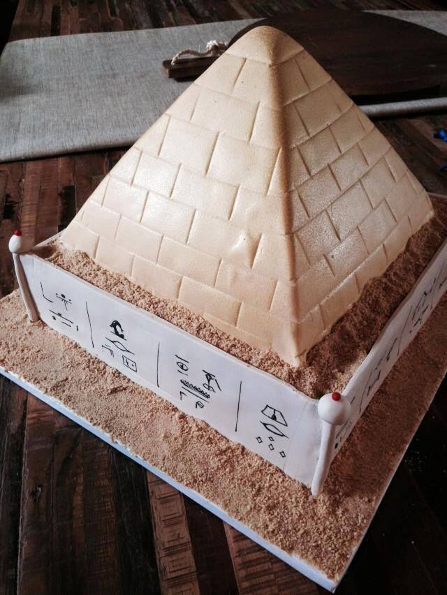How To Make A Egyptian Pyramid Cake