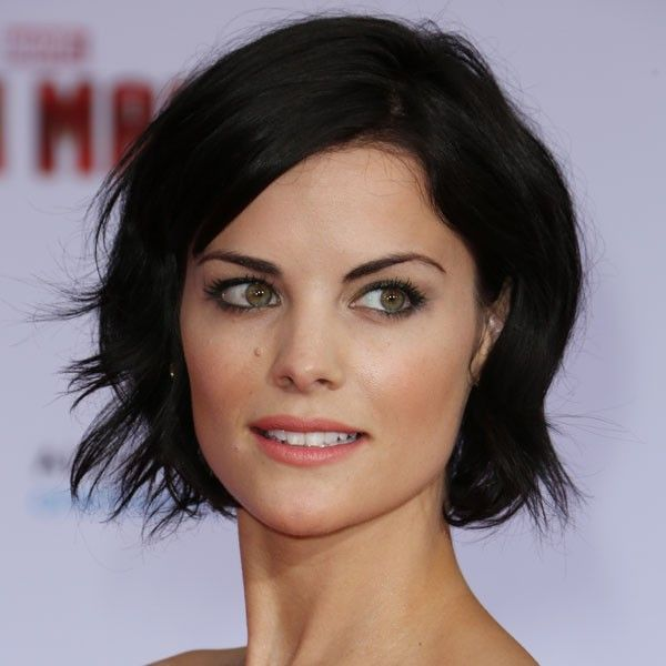 Jaimie Alexander with choppy bob hairstyle