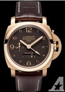 Panerai 1950 10 Days GMT Aspen Automatic in Rose Gold 10 pieces - Brown Crocodile Strap with Brown S