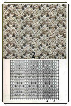 Simple lace knitting pattern