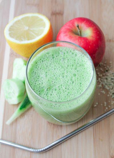 Detox Green Smoothie – Vegan, Gluten Free, Banana Free #antiinflammatory #healthy