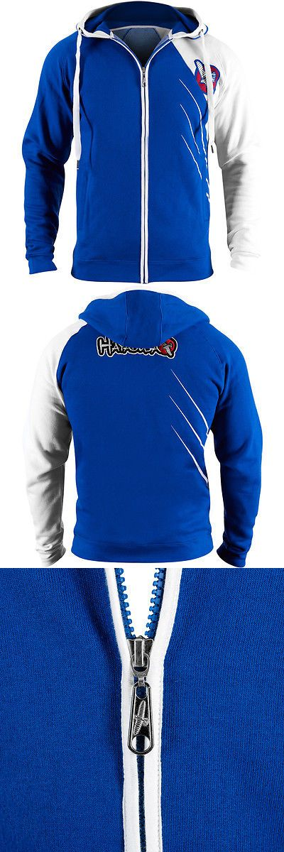Hoodies and Sweatshirts 179770: Hayabusa Recast Series Athletic Fit Zip-Up Hoodie - Blue White - Boxing Mma -> BUY IT NOW ONLY: $79.99 on eBay!