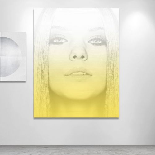 Yellow Face on Gradient - Digital montage Object of Desire Art Gallery objectofdesire.com.au