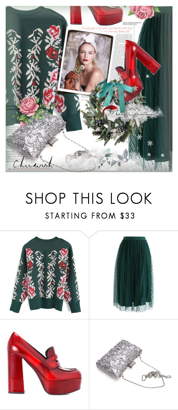 """""""Chic New Year's"""" by kroton ❤ liked on Polyvore featuring Chicwish, Prada and chicwish"""