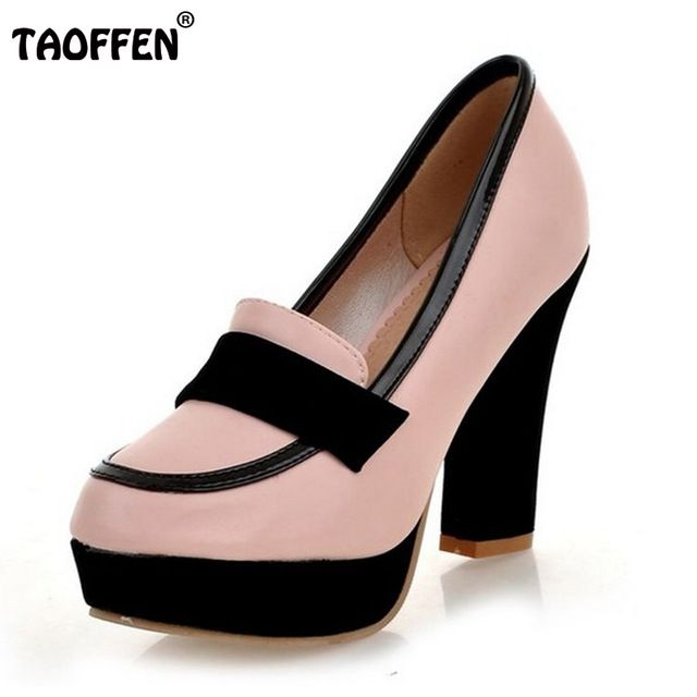 Señoras zapatos de tacón alto de las mujeres sexy vestido calzado dama de la moda femenina de la marca bombas P13025 venta eur caliente 34-43
