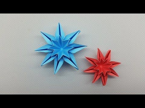 Folding 5 Pointed Origami Star Christmas Ornaments | 360x480
