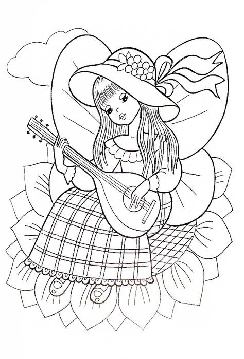 Раскраска с красивыми картинками юных фей и принцесс . Комментарии : LiveInternet - Российский Сервис Онлайн-Дневников