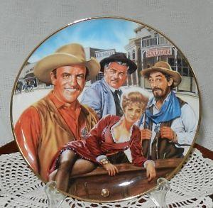 Gunsmoke collectors Decor plate Franklin Mint