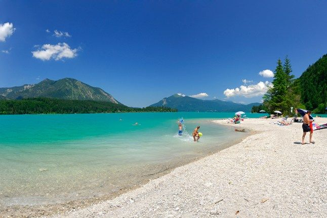 Walchensee ~ It's the region's purest and clearest lake, with a mesmerising turquoise hue from the natural minerals ~ near Kochel, Bavarian Alps ~ Germany