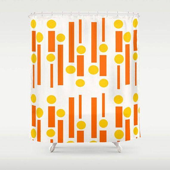 Modern  Shower Curtain Orange  Shower Curtain by crashpaddesigns