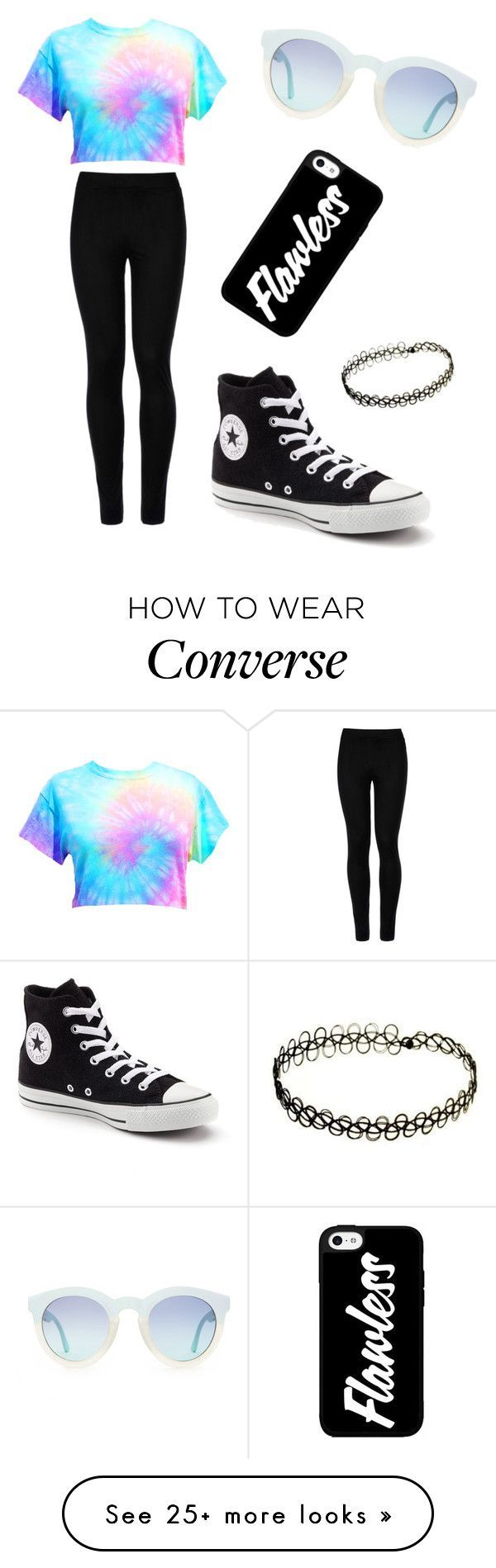 """Cute converse girl"" by viuna-soltani on Polyvore featuring Wolford and Converse"