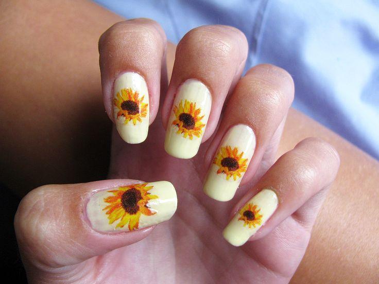 Pin by Chas Velandingham on nails in 2020 | Sunflower