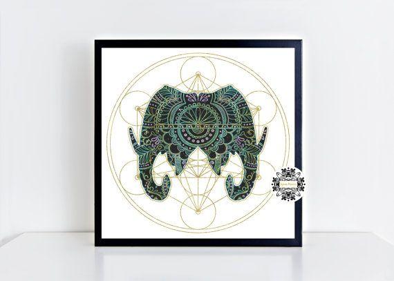 Ganesh Print Ganesha Print Art Print Elephant Print Hindu Art Hindu God Wall Art Ganesh Art Yoga Art Spiritual Art Meditation Art Boho Art
