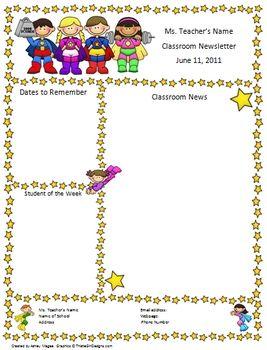 super hero theme classroom | Teacher Newsletter Template - Super Hero Theme