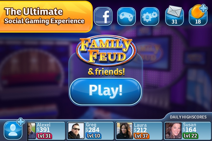 Family Fued for iPhone Family feud, Feud, Social games