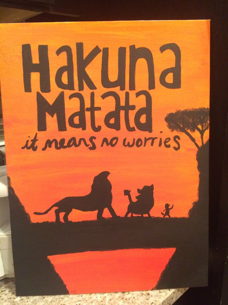 lion king acrylic canvas painting hakuna matata lion king ...