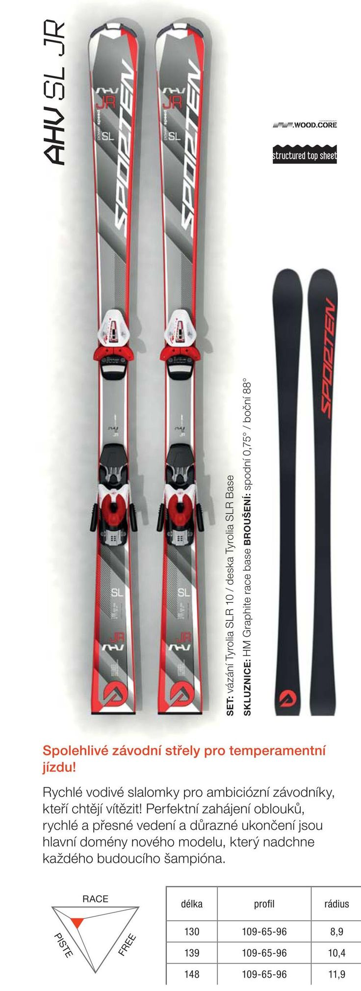 Sporten collection 2015/16 - junior race skis