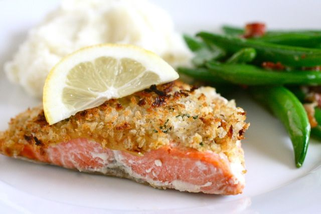 panko crusted salmon by annieseats, via Flickr