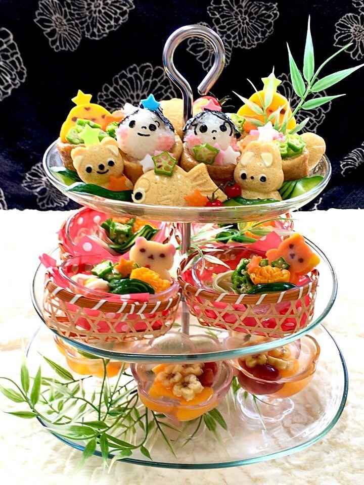 富士子's dish photo 笹の葉 さ らさら   七夕の日の晩ご飯 | http://snapdish.co #SnapDish #七夕 #お寿司 #そうめん #プリン/ゼリー #サマーバレンタインデー(7月7日)