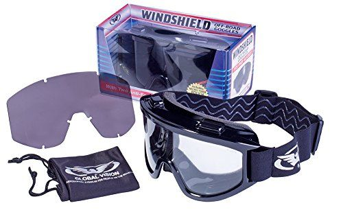 Windshield Goggle Kit Smoke/Clear Lenses Over-Prescription Glasses  Shatterproof Polycarbonate Lenses with UV400 Filter for Maximum UV Protection and Scratch Resistant Coating  2mm Thick Polycarbonate Lens with Double-Sided Anti-Fog Coating  Soft Airy Foam  Includes Interchangeable Smoked and Clear Lenses and Micro-Fiber Pouch  Meets ANSI Z87.1-2003 Standards for use in Industrial Applications