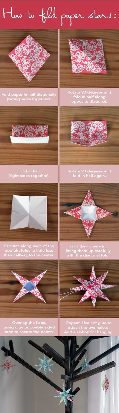 {DIY-How to Fold Paper Stars}