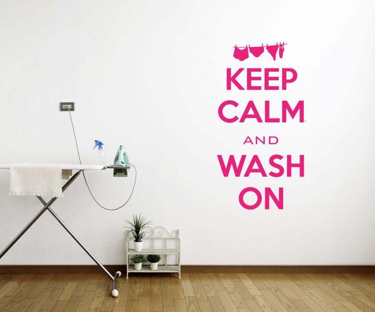 Muursticker voor het washok