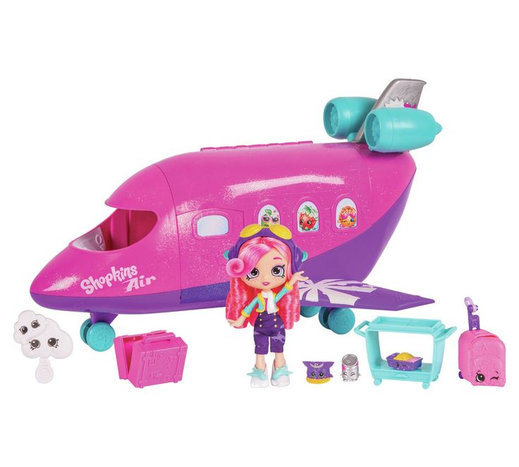 Buy Shopkins Shoppies Plane Playset with Doll at Argos.co.uk - Your Online Shop for 3 for 2, Toys.