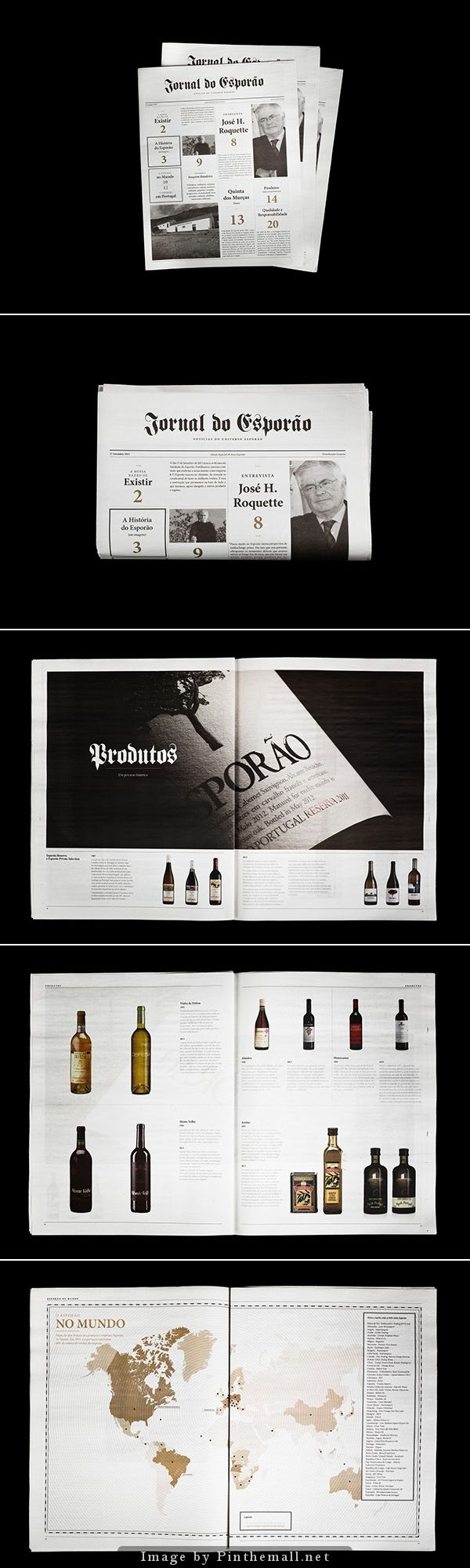 Esporão Newspaper by multiple owners on behance