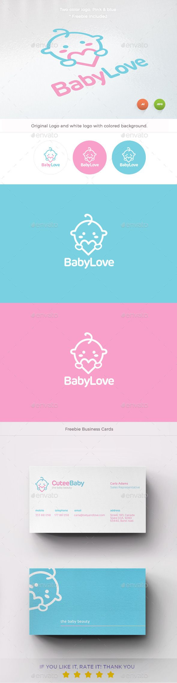 Baby Love Logo Template Vector EPS, AI #logotype Download here: http://graphicriver.net/item/baby-love-logo/10104631?ref=ksioks