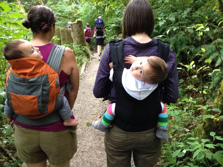 Image result for hike while baby wearing