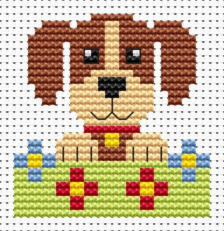 Sew Simple Dog cross stitch kit