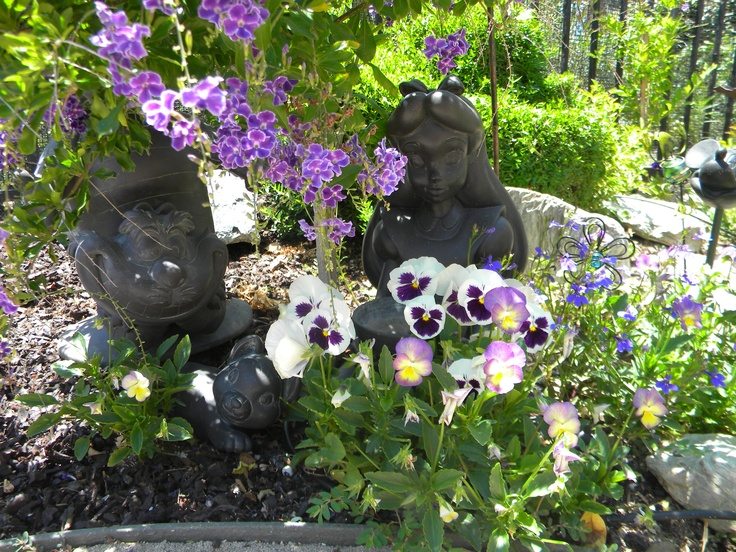 Alice in Wonderland and Cheshire Cat, Disney outdoor statuary - 40 Best Outdoor Disney Decor Images On Pinterest