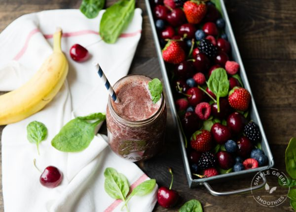 Looking for a green smoothie recipe packed with cherries rich in antioxidants? Check out this heart-healthy Berry Cherry Jubilee. Vegan and gluten-free!
