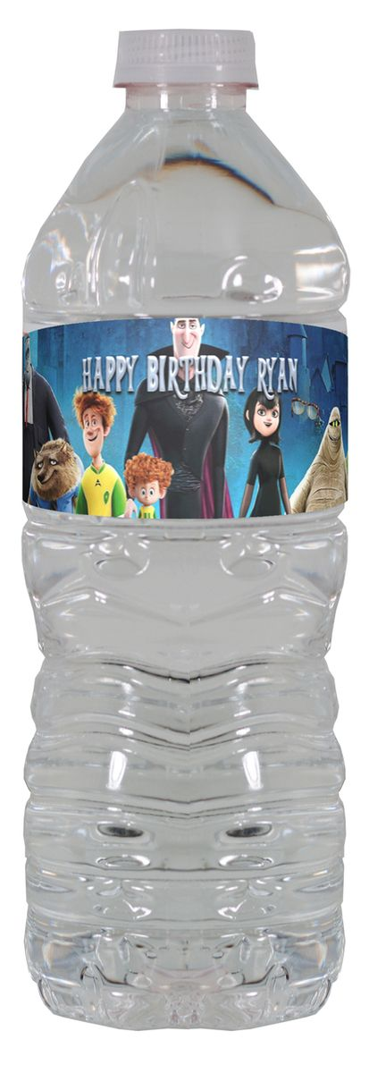 Hotel Transylvania 2 personalized water bottle labels – worldofpinatas.com