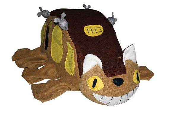 Burrow/Cube Cat Bus Totoro film for ferrets rats and by SewFerrets