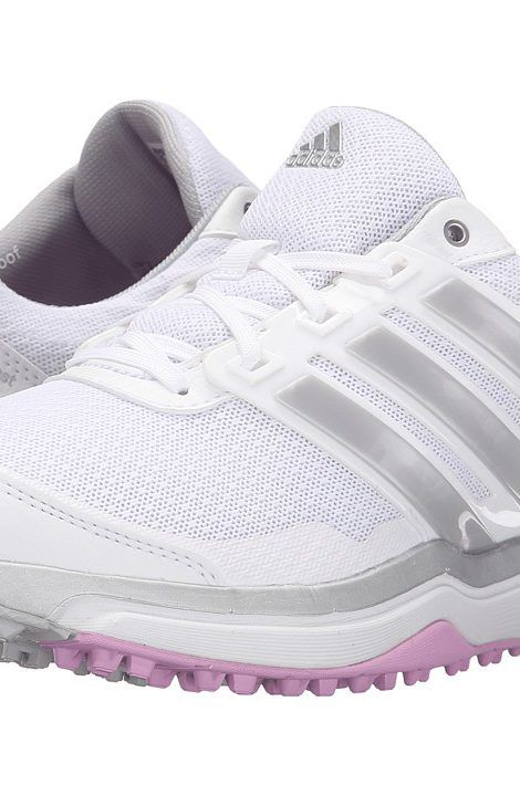 adidas Golf Adipower S Boost II (Ftwr White/Matte Silver/Wild Orchid-Tmag) Women\u0027s  Golf Shoes - adidas Golf, Adipower S Boost II, F33287, Footwear Athletic ...
