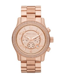 """Michael Kors brought back the """"mens-style watches for women"""" look..the whole watch collection is wonderful but I especially like the rose gold watches"""
