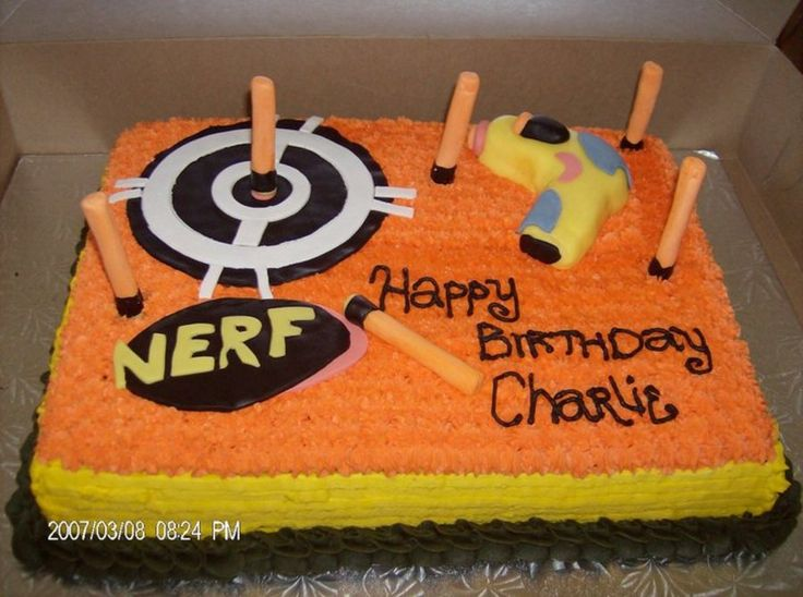 Nerf cake with star tip