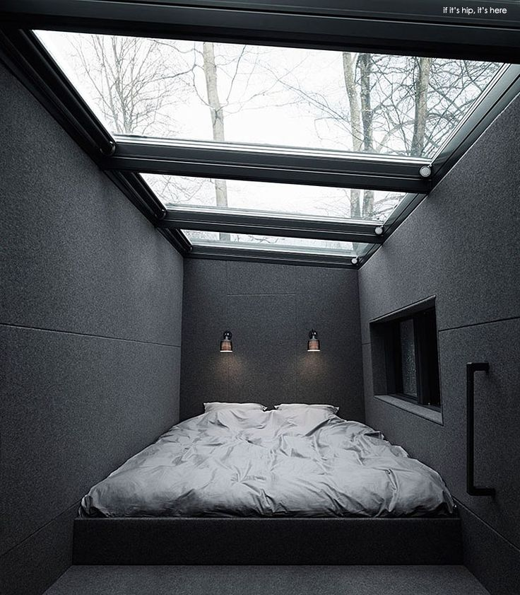 A look at the Vipp Shelter. A 525 sqft, two level, prefab steel and glass structure whose kitchen, bedroom and bath are outfitted with tons of Vipp products