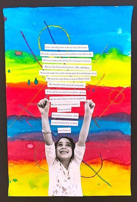 Elementary art lessons, 2nd grade, self-portrait l…