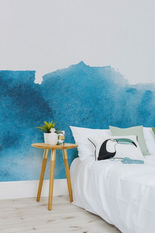 Make a masterpiece of your walls with this collection of watercolour wallpaper murals. From blue hues to rusty reds, these wallpapers deliver maxiumum style - with next to no effort.