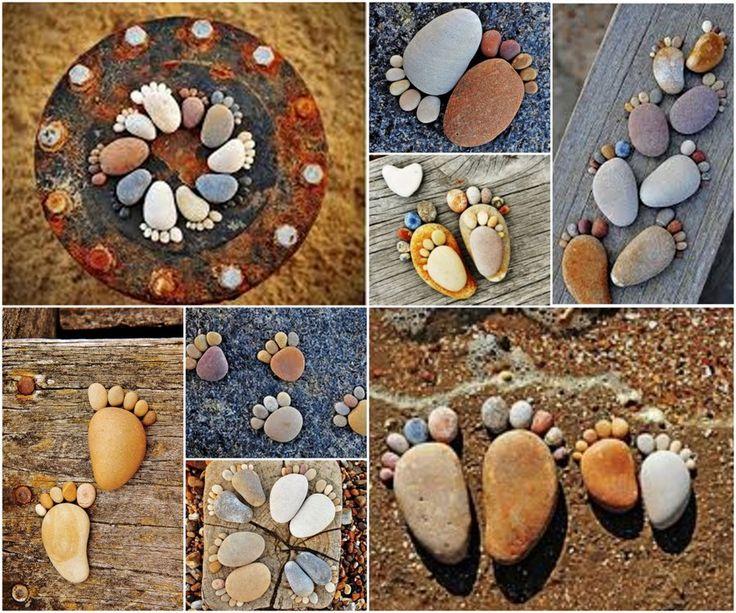 20+ fabuloso jardín DIY Ideas de decoración con piedras y Stones8