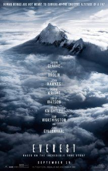 """Everest (2015) Film adaptation of """"Into Thin Air"""" by Jon Krakauer - A climbing expedition on Mt. Everest is devastated by a severe snow storm. in Theaters September 18th."""