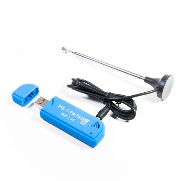 DVB-T dongle ideal for ADS-B (real-time plane tracking)! - This is an SDR-capable USB DVB-T RTL2832U+R820T2 digital TV tuner receiver and antenna that's ideal for receiving 1090MHz ADS-B transmissions from planes for your own real-time flight tracking!